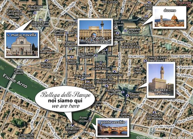 Cartina Firenze Da Stampare.Bottega Delle Stampe Stampe Antiche Liberty Firenze Florence Dove Siamo Where We Are